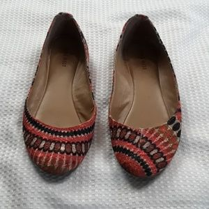 Nine west sz 8.5 embroidered multicolored flats